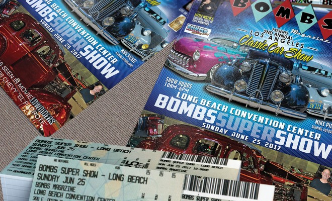 Advanced Ticket Sales - Bombs Magazine Car Show